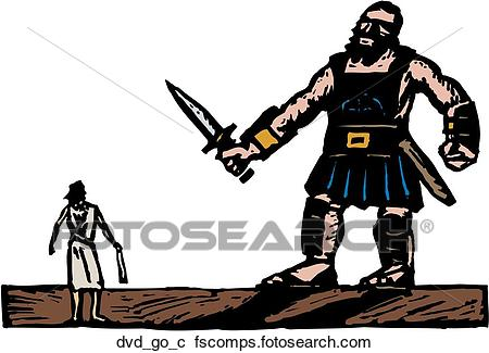 450x325 Clipart Of David And Goliath Dvd Go C
