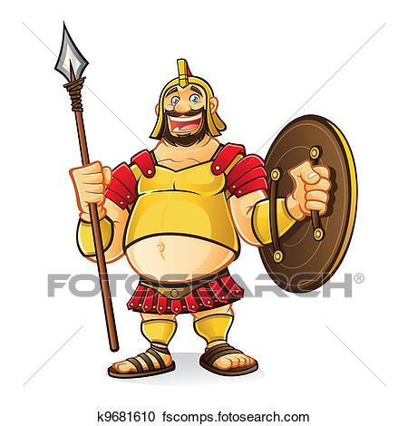 450x470 Clipart Of Fat Goliath K9681610