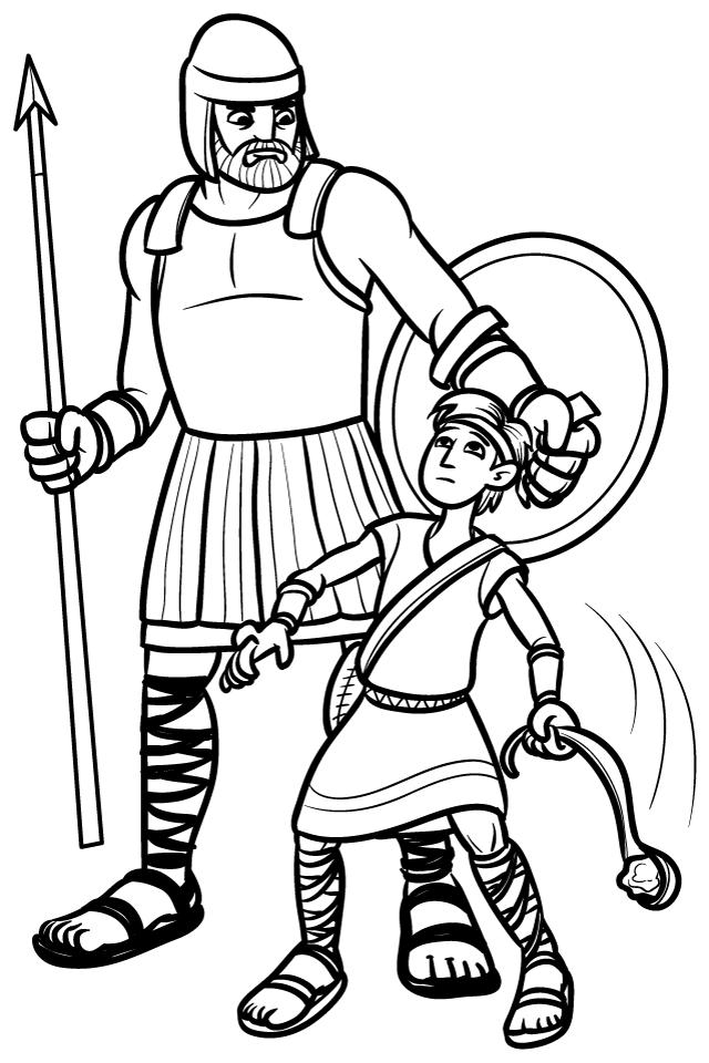 640x960 David And Goliath Coloring Pages Many Interesting Cliparts