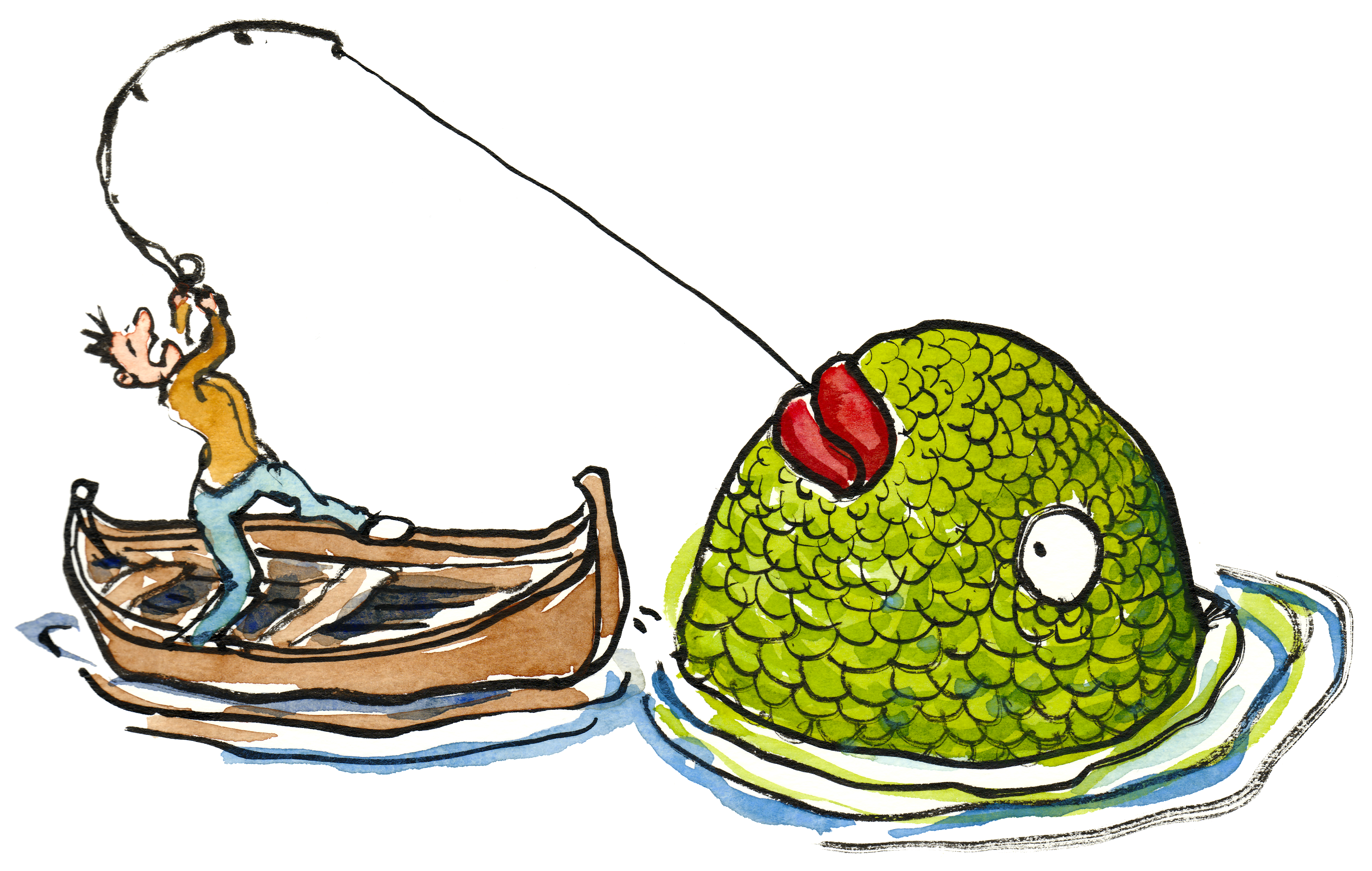 4536x2878 Fishing Clipart Large Fish