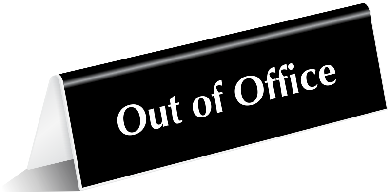 800x400 Out Of Office Signs