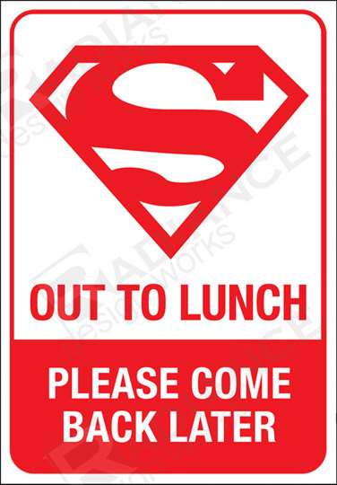 376x540 To Lunch Sign For Office