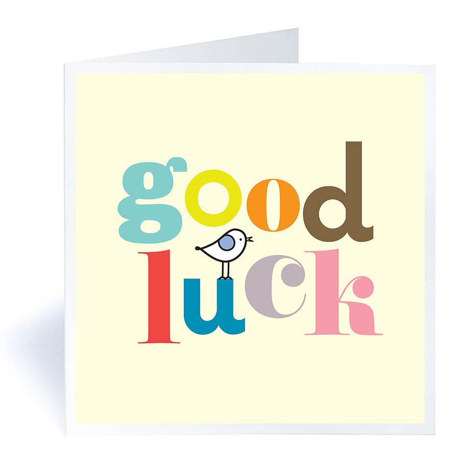 899x900 Good Luck Greeting Ecard