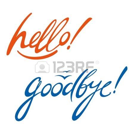 450x450 Hello! Clipart Farewell