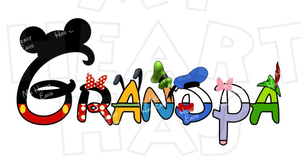 1024x532 Grandpa Disney Mickey Mouse And Gang Character Text Instant