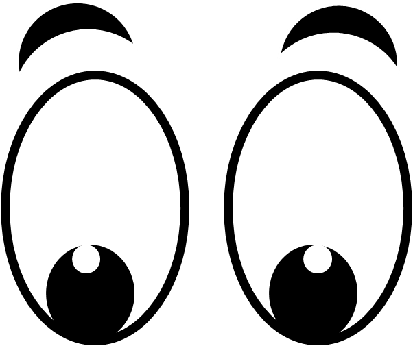 Eyes looking. Googly clipart free download