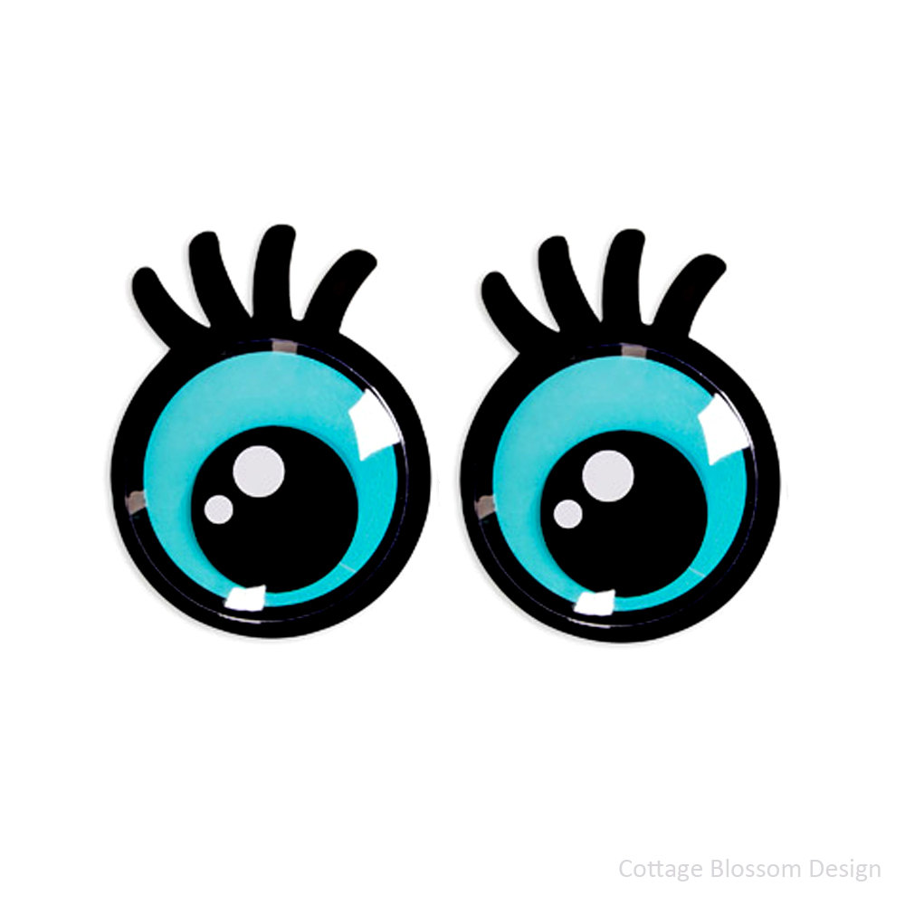 1000x1000 Giant Googly Eyes, Oversized Movable Eyes, Sticky Back, Big Blue