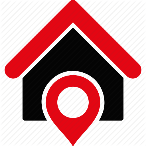 512x512 Gps, Home, House, Location, Map Marker, Navigation, Pointer Icon