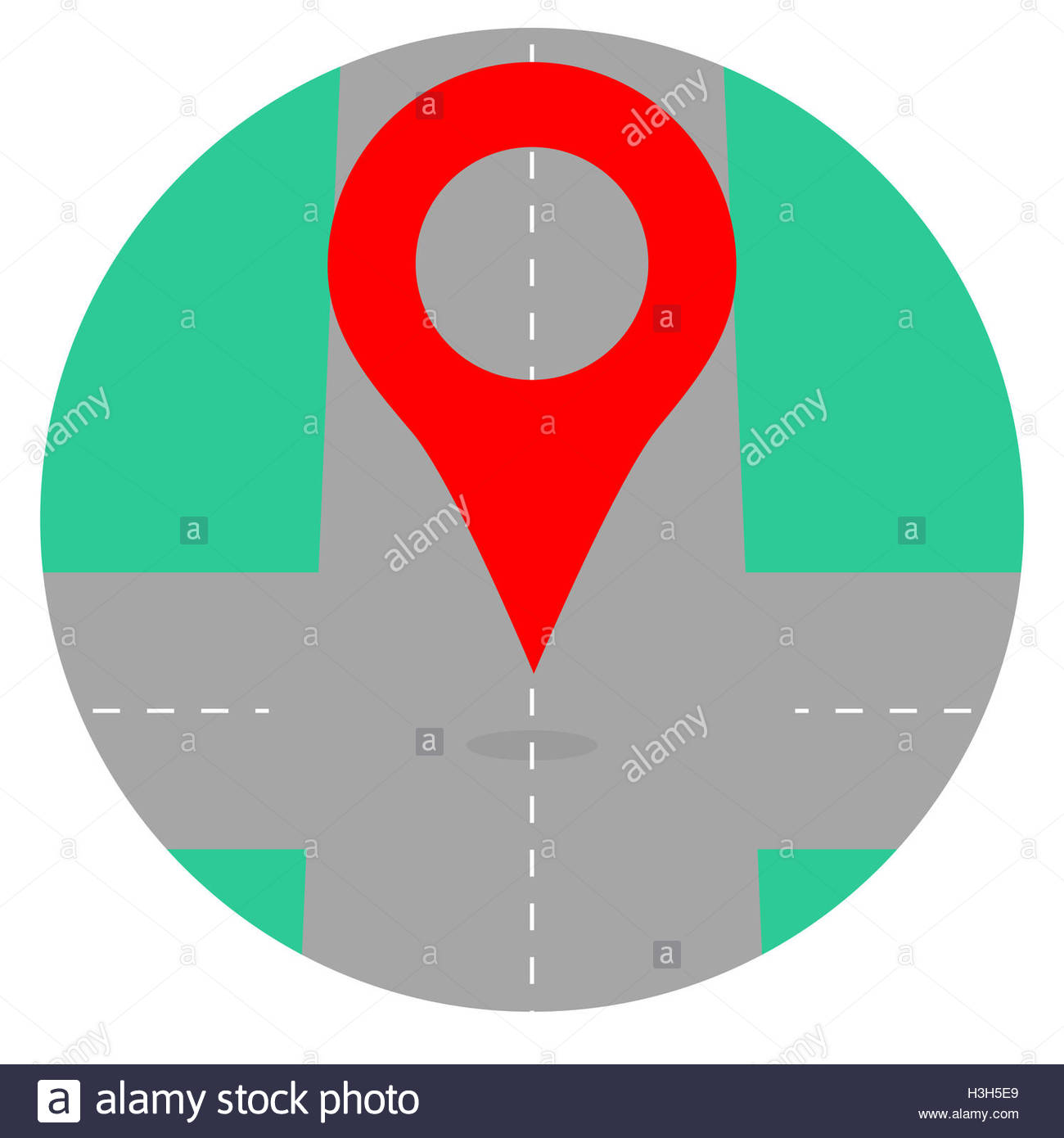 1300x1390 Gps Icon Pin Crossroad. Map Icon Location And Gps Navigation