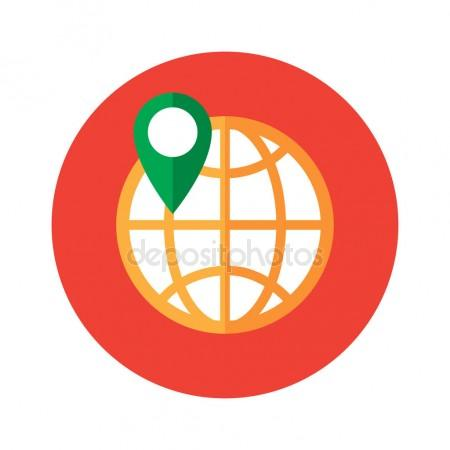 450x450 Gps Icon. Global Positioning System. Information Technology Design