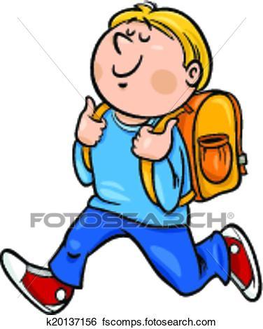 376x470 Clip Art Of Boy Grade Student Cartoon Illustration K20137156