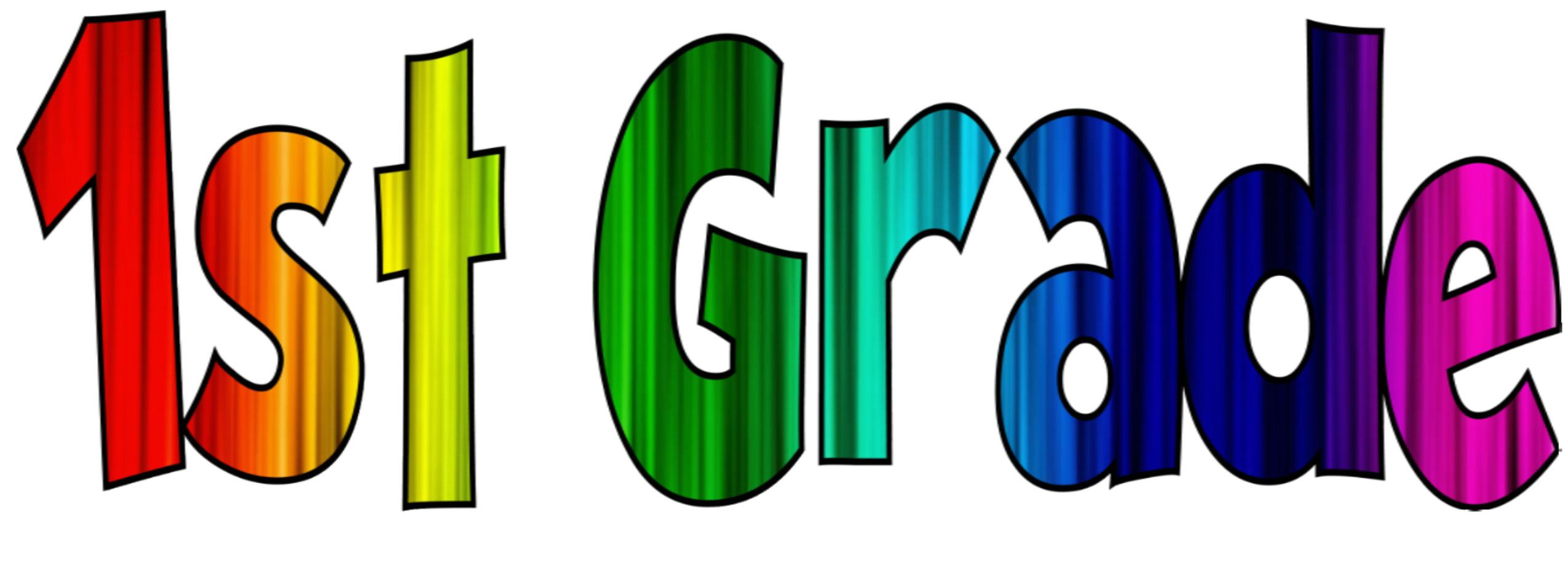 2550x919 1st Grade Clip Art