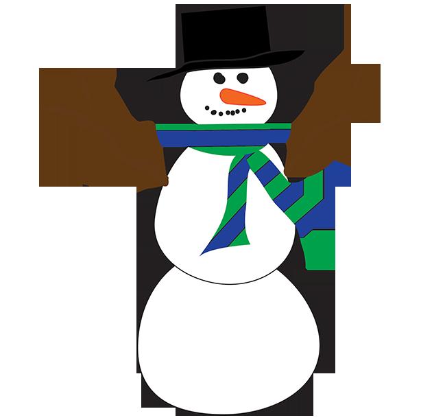 614x612 Clip Art Snowman
