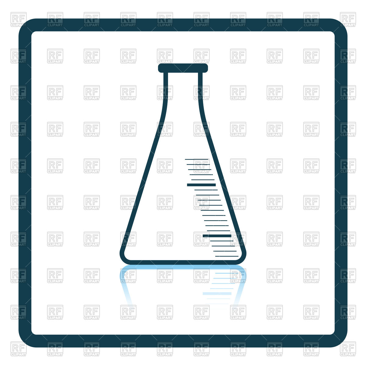 1200x1200 Lab Glassware Kit On Table, Chemical Tools Royalty Free Vector