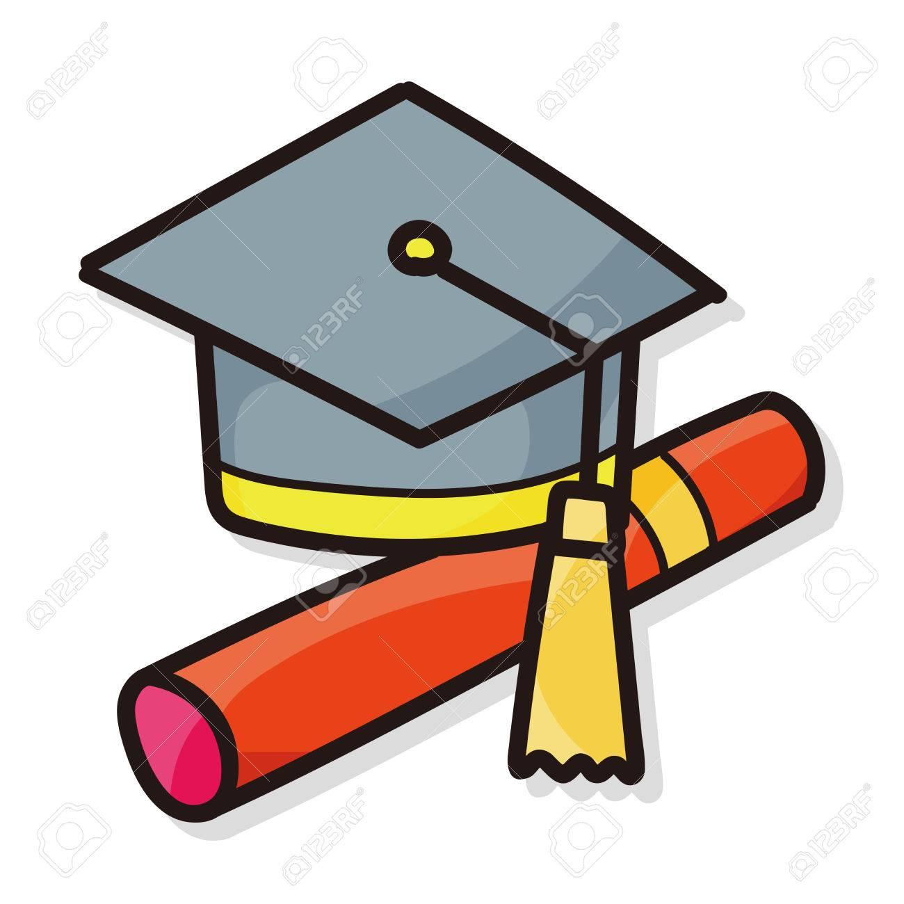 1300x1300 Graduation Cap Color Doodle Royalty Free Cliparts, Vectors,