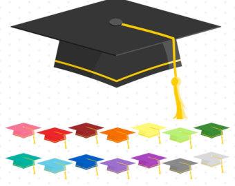 340x270 Graduation Clip Art Graduation Clipart Digital Graduation Caps