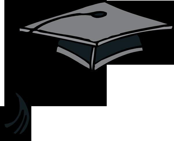 600x486 Graduation Hat Clip Art