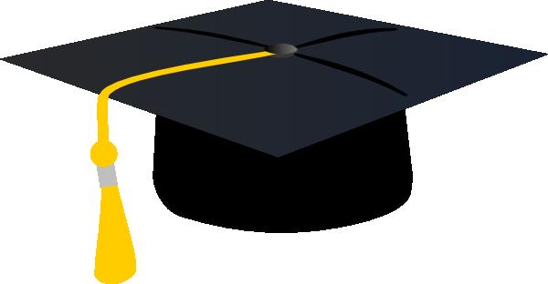 600x312 Graduation Hat With Yellow Tassle Clip Art