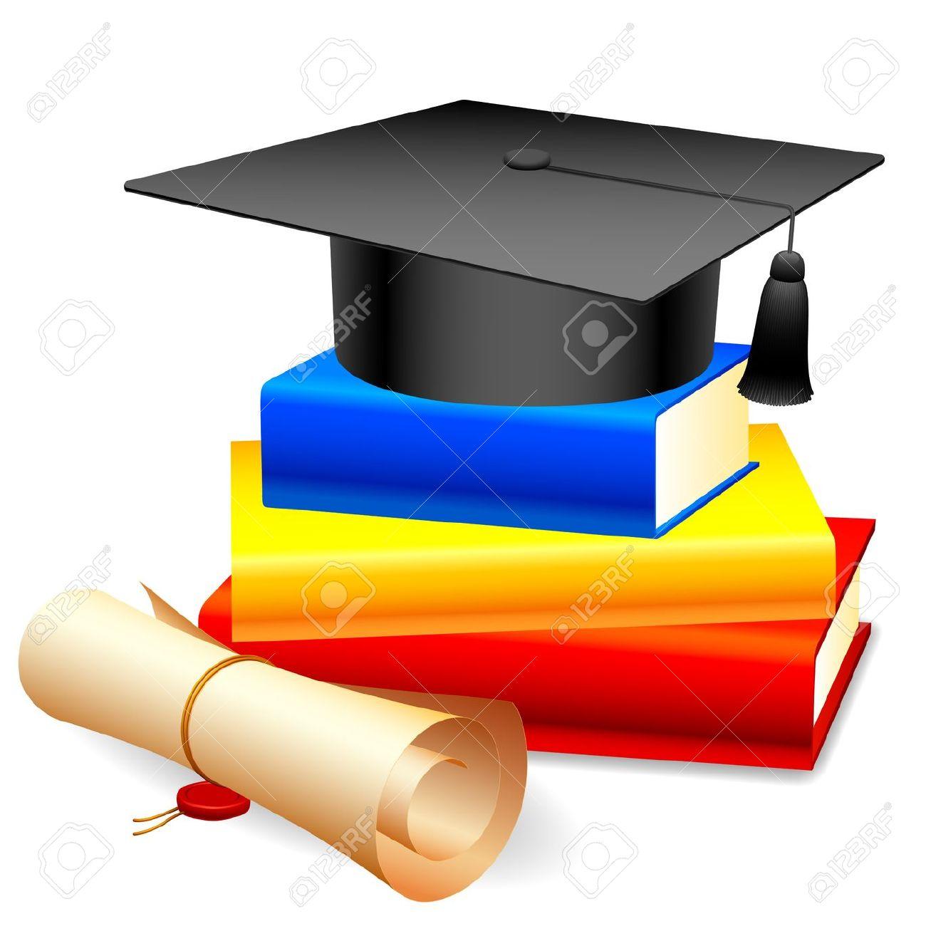 1300x1300 Graduation Cap And Diploma Clipart