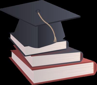 400x348 Graduation Cap Blue Clipart