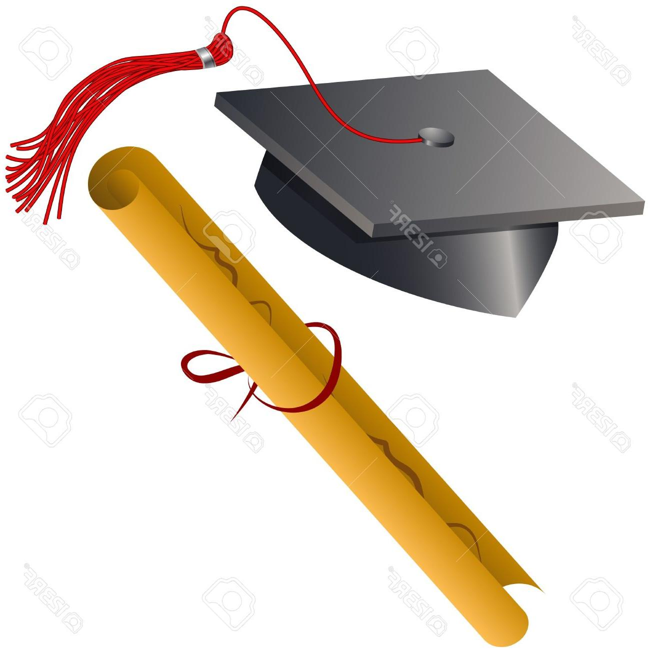 1300x1300 Unique Graduation Hat And Diploma Clip Art Vector Library Free