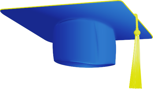 500x293 Graduation Cap And Gown Clipart
