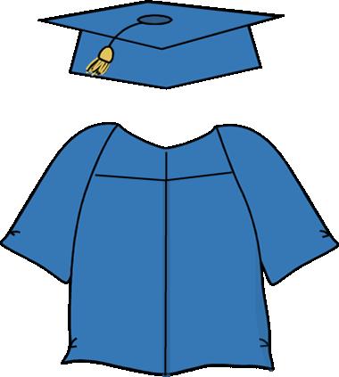 380x423 Graduation Cap and Gown Clip Art
