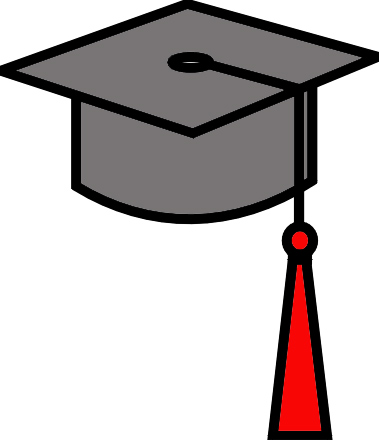 379x440 Graduation cap and gown clipart 2