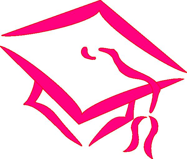 600x510 Graduation hat graduation cap pink clip art