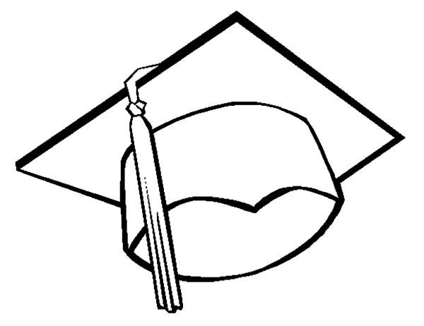 600x462 Graduation Cap Coloring Page Graduation Cap, Grad