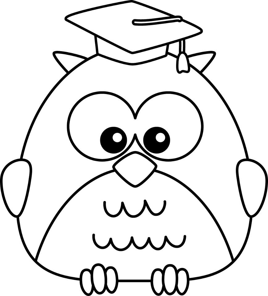 869x960 Graduation Cap Coloring Page