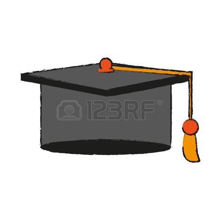 450x450 Graduation Diploma Achievement Draw Vector Illustration Design