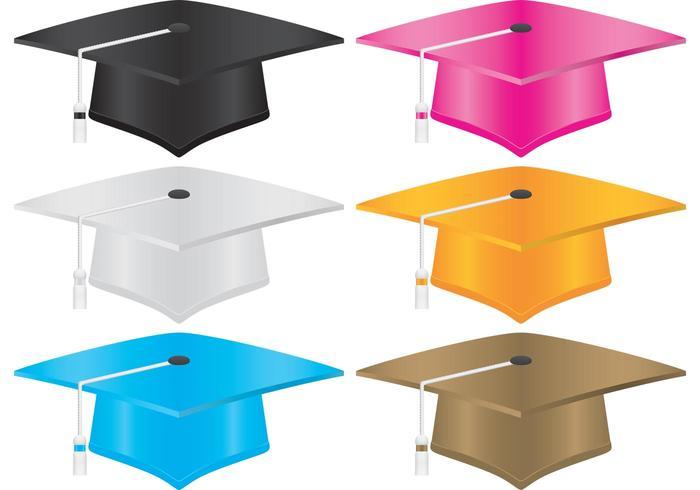 700x490 Graduation Hat Vectors