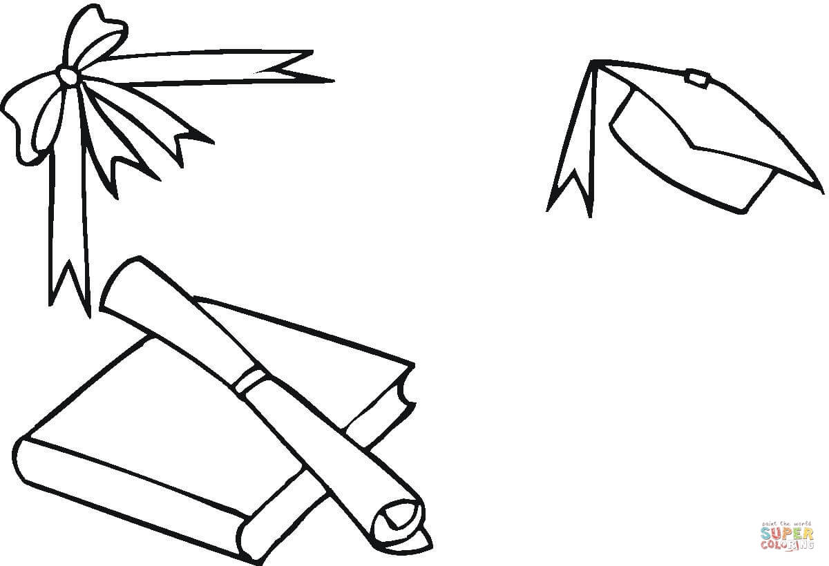 1200x820 Graduation Stuff Coloring Page Free Printable Coloring Pages