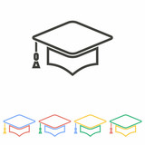 160x160 Graduation Cap Icon Stock Image And Royalty Free Vector Files