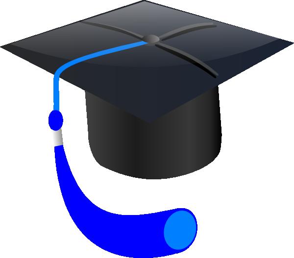 600x528 Blue Graduation Cap Clip Art
