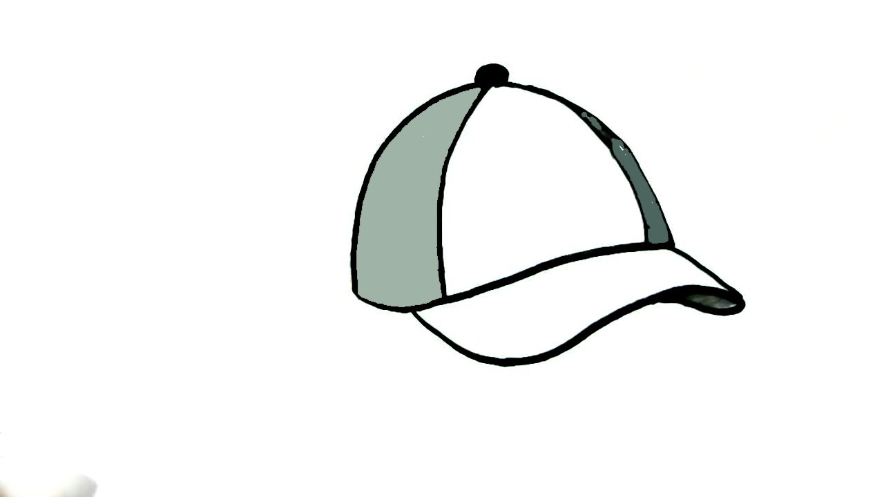 1280x720 How To Draw A Cap In Easy Steps For Children. Beginners