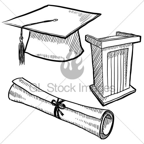 500x500 Image Gallery Graduation Sketch