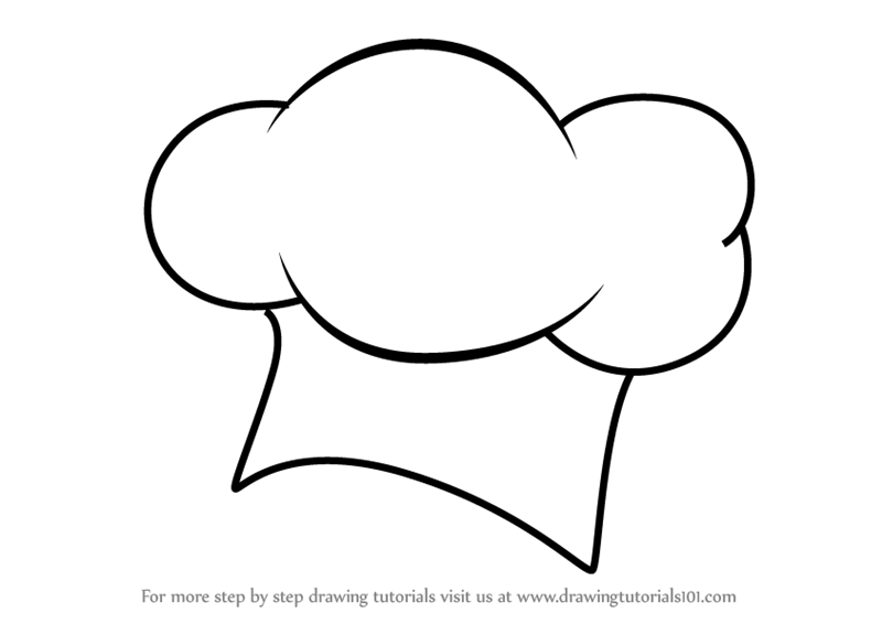 800x566 Learn How To Draw A Chef Hat (Hats) Step By Step Drawing Tutorials