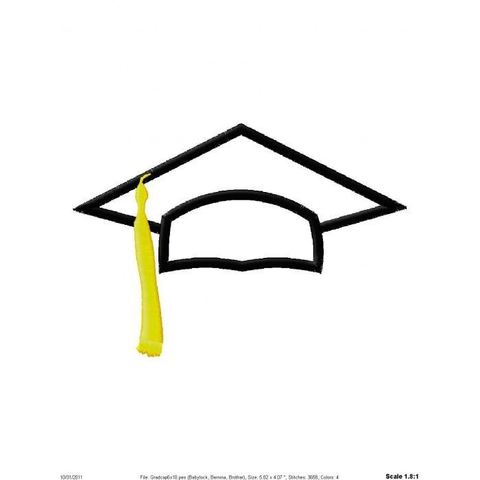 700x700 Graduation Clipart White Cap