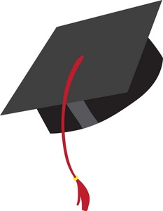 233x300 Clipart Of Graduation Cap