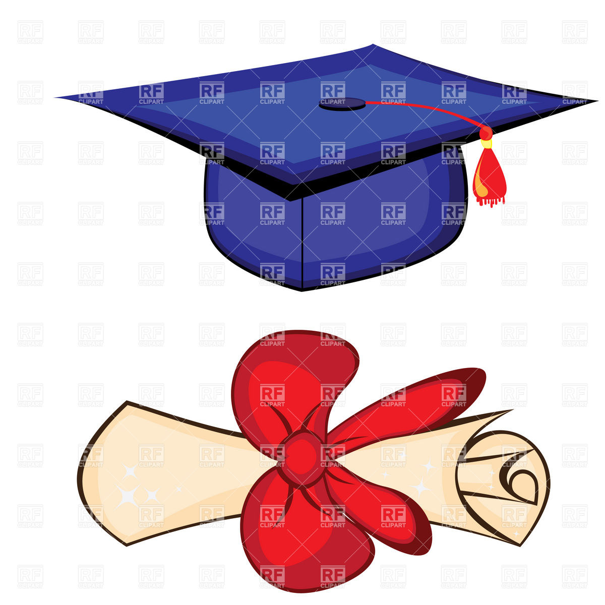 1200x1200 Diploma And Graduation Cap Royalty Free Vector Clip Art Image