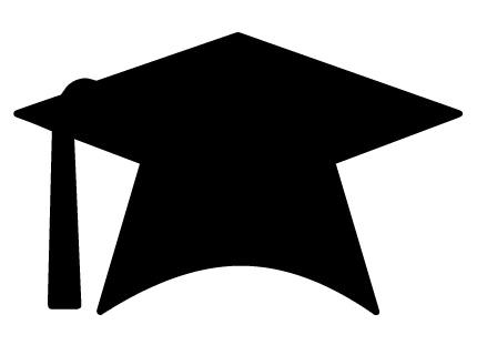439x311 Flying Graduation Caps Clip Art Hat Clipartix