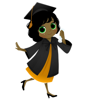340x340 Graduation clip art 3 image