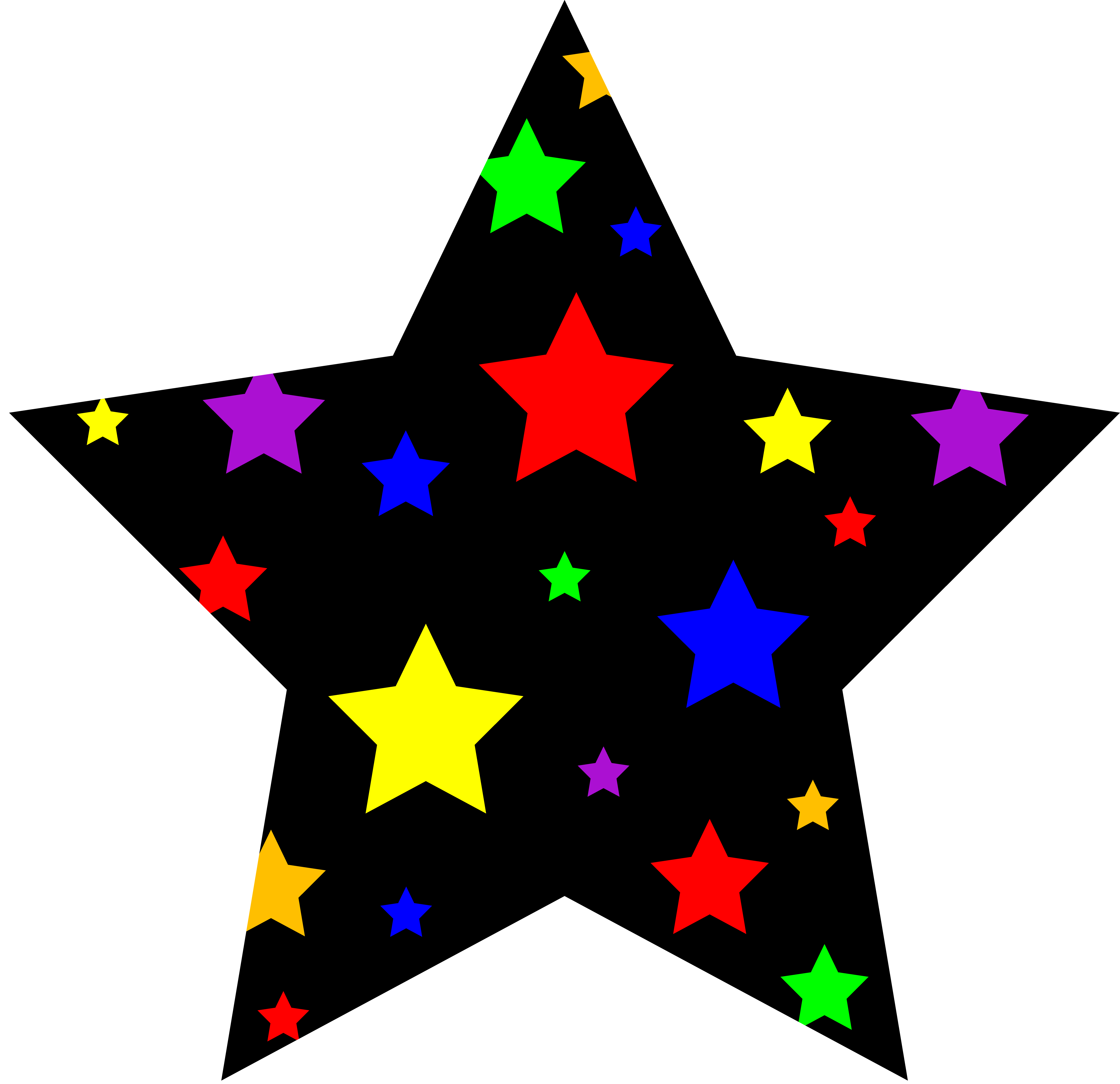 6598x6383 Star Clip Art Outline Free Clipart Images 4