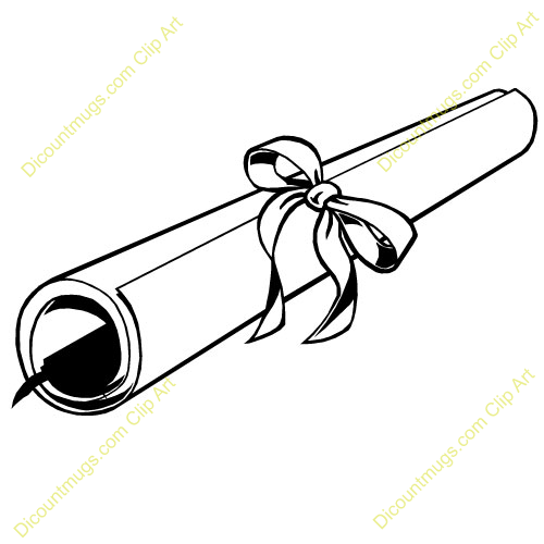 500x500 Clipart Diploma Scroll