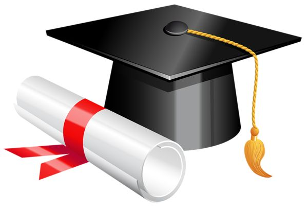 600x406 Graduation cap and diploma clipart picture graphics clipartix