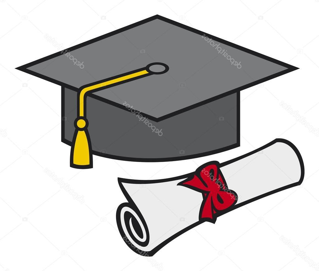 1023x868 Best 15 Stock Illustration Graduation Cap And Diploma Library