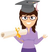 187x200 Top 92 Graduation Clip Art