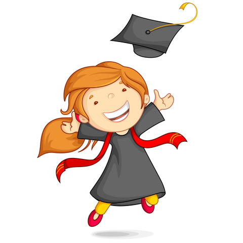 480x480 Graduation Cartoon Clipart